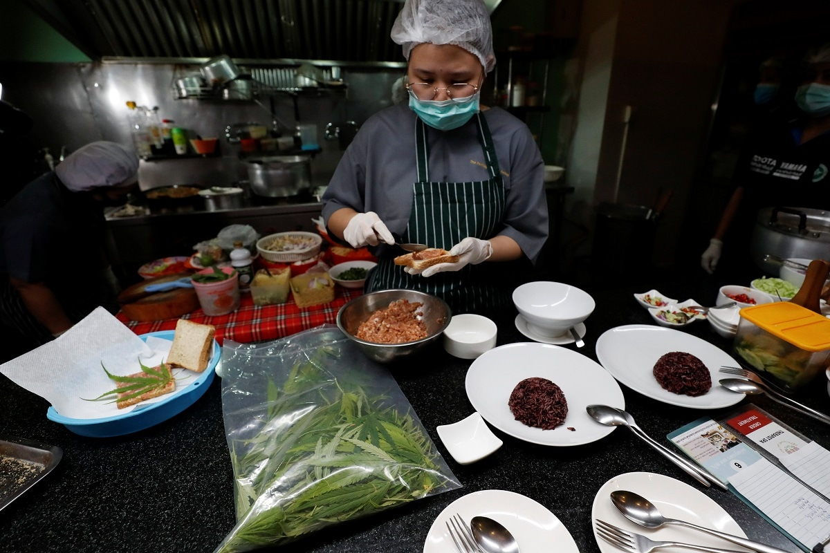 'Giggling Bread', 'Joyfully Dancing Salad' Among Cannabis-infused Cuisine Served at Thai Restaurant