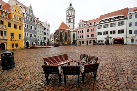 FILE PHOTO: A view of the market square amid the coronavirus in Germany.