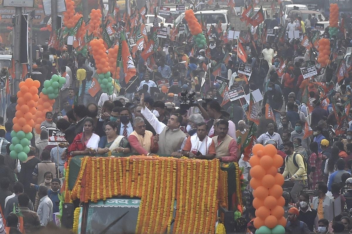 'Goli Maaro…': 3 Bengal BJP Workers Held for Raising Incendiary Slogans at Suvendu Adhikari's Roadshow