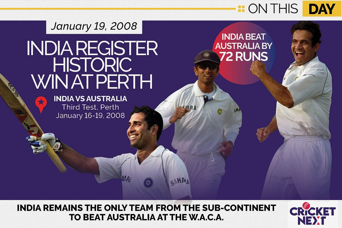 On This Day in 2008, India Register Historic Test Win At Perth