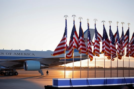 The Air Force One is seen on the tarmac at the Joint Base Andrews, Maryland, US. (Image: Reuters/File)