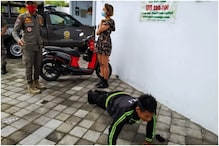 Cashless Tourists Without Masks Made to Do 50 Push-ups Instead of Paying Fine in Bali