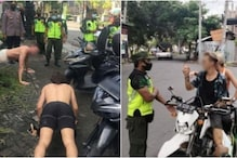 Foreigners Made to Do 50 Push-ups in Indonesia for Not Wearing Mask, 15 for Putting It Improperly