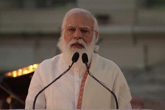 Prime Minister Narendra Modi at Victoria Memorial in Kolkata. (Image: BJP twitter)