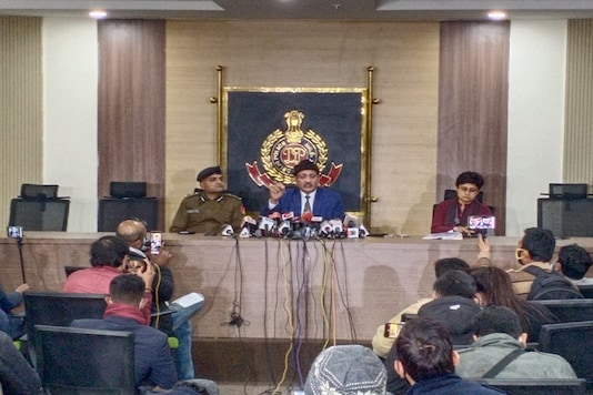 Deependra Pathak, Special Commissioner of Police (Intelligence) addresses press conference related to January 26 Kisan Tractor Rally in Delhi.