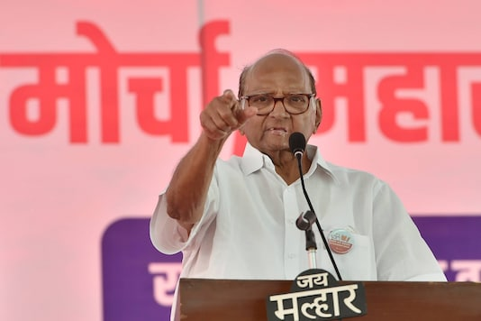 NCP chief Sharad Pawar Addressed a rally organised in Mumbai to express solidarity with the farmers agitating near Delhi. (PTI)