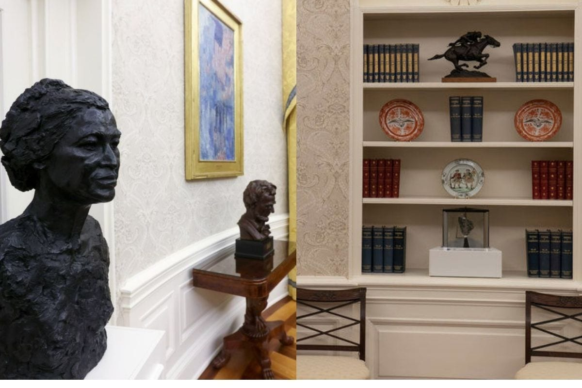 In Photos: Moon Rock to Busts, Joe Biden Makes Symbolic Changes to Oval Office in White House -