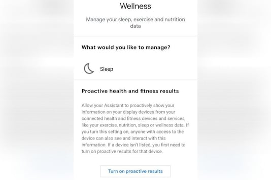 Google Assistant Gets New 'Proactive' Option to Show Fitness Data on Smart Displays