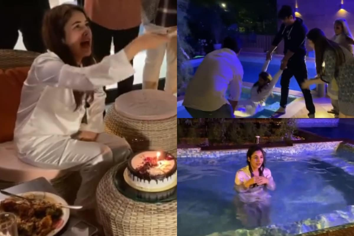 Sidharth Shukla Throws Shehnaaz Gill in Pool As They Celebrate Her Birthday  in Most Thrilling Way