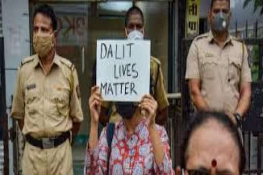 (Only for representation) Photo of Man Holding Placard Of Dalit Lives Matter