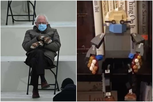 After crochet doll, LEGO Bernie is winning hearts on Twitter   Image credit: Twitter