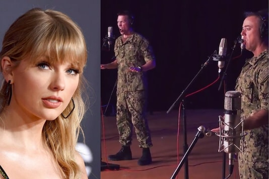 US Navy band and Taylor Swift. (Credit: twitter)