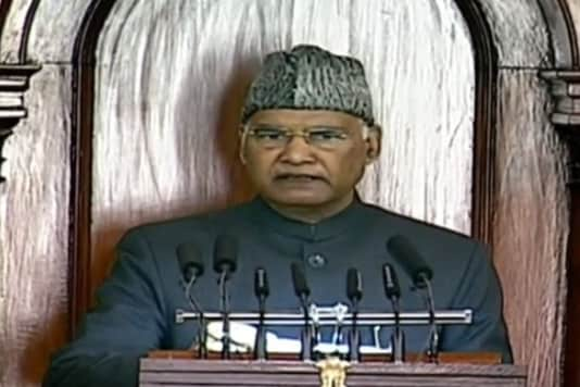 President Ramnath Kovind speaks in Parliament ahead of the Budget Session 2021.