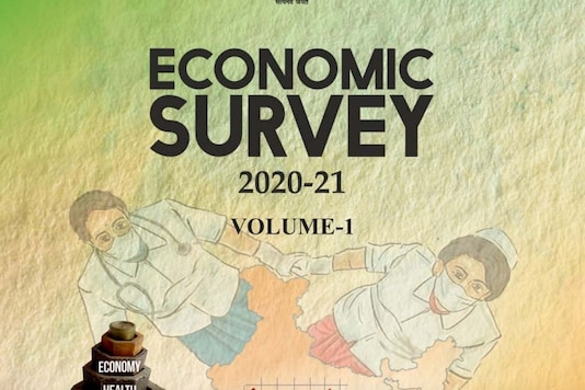 The cover of the Economic Survey 2021