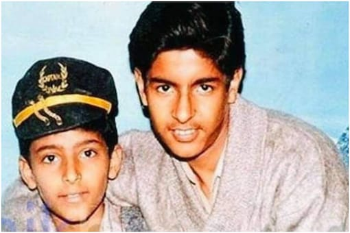 Kapil Sharma (L) in throwback picture