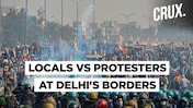 Police Lathicharge To Break Up Clash Between Locals And Protesting Farmers