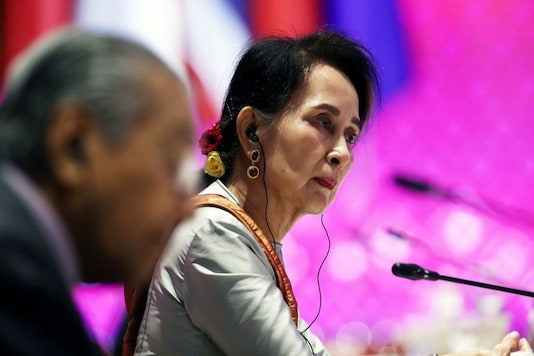 Myanmar's State Counsellor Aung San Suu Kyi, in office since April 6, 2016. Image credits: Reuters.
