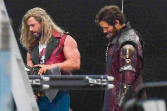 Chris Hemsworth and Chris Pratt Suit Up in Leaked Photos From Thor: Love and Thunder