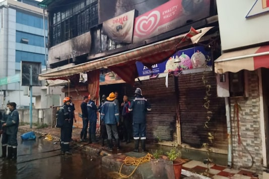 Fire that broke out at a shop in Navrangpura area of Ahmedabad has been brought under control.