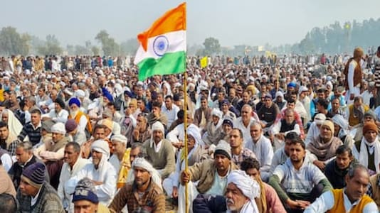 Farmers have been camped at various border sites in Delhi demanding the repeal of the Centre's three farm laws.