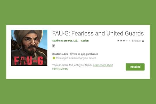 FAU-G listing on Google Play Store.