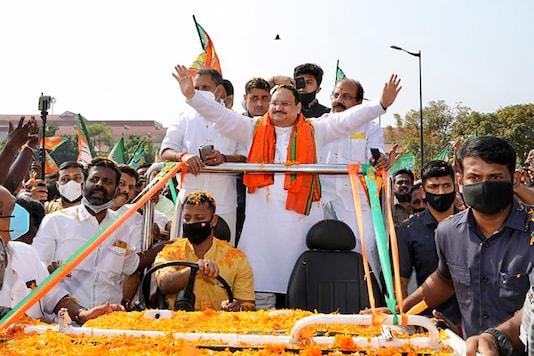 Pictures From JP Nadda's 2-Day Visit to Kerala, BJP Chief Holds Roadshows in Thiruvanathapuram, Kochi
