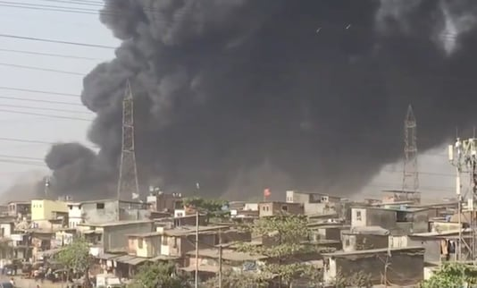 Mumbai: Fire at the Mankhurd Scrapyard.