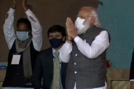 Prime Minister Narendra Modi in Dhekiajuli