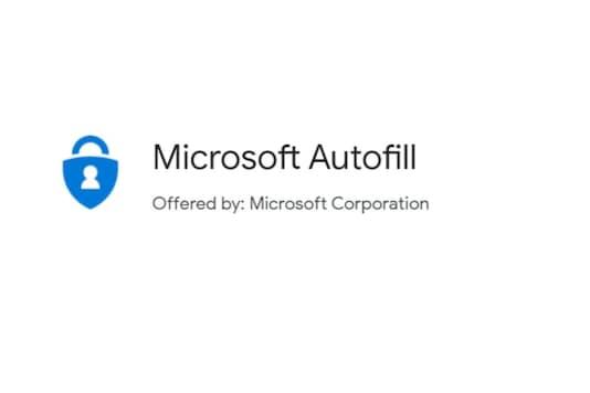 Microsoft Autofil Chrome extension
