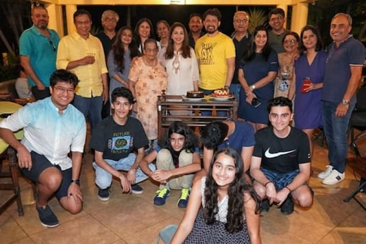 Madhuri Dixit Shares Picture With Family and Friends From Husband Shriram Nene's Pre-birthday Party