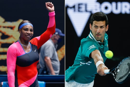 Serena Williams (L) and Novak Djokovic (Photo Credit: AP)