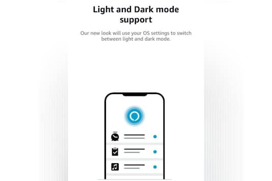 Light and dark mode support on Alexa app for iOS