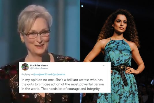Kangana Ranaut's tweets on comparing herself to Hollywood star Meryl Streep has started a major social media storm.