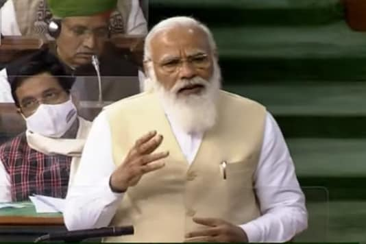 PM Modi in Lok Sabha.
