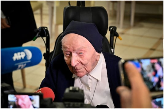 Sister Andre, Europe's oldest person beats COVID days before her 117 birthday | Image credit: AFP
