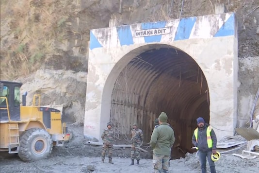Uttarakhand Glacier Burst: File photo of rescue operations at tunnel in Tapovan.
