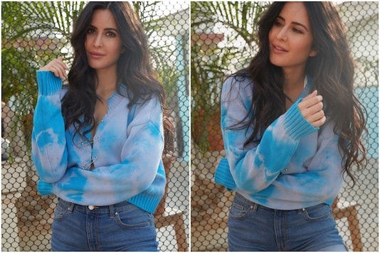 Katrina Kaif Gives the Safety Pin a Touch of Oomph in Blue Tie-dye Sweater