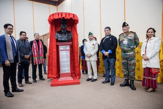 Foundation stone laying ceremony of Major Ralengnao Bob Khathing Memorial was held at Kalawangpo auditorium in Tawang.