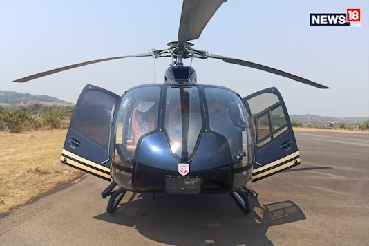 BLADE India's Airbus H130 helicopter. (Photo:Arjit Garg/News18.com)