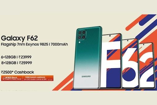 Samsung Galaxy F62 prices.