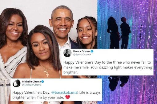 The former POTUS shared a photo of him along with wife Michelle Obama and daughters Malia and Sasha. (Credit: twitter/Barack Obama)