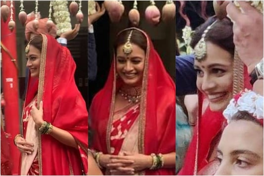 Video of Dia Mirza Making Her Bridal Entry Goes Viral on Social Media, Watch Here