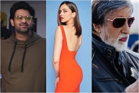 (L to R): Prabhas, Deepika Padukone, Amitabh Bachchan