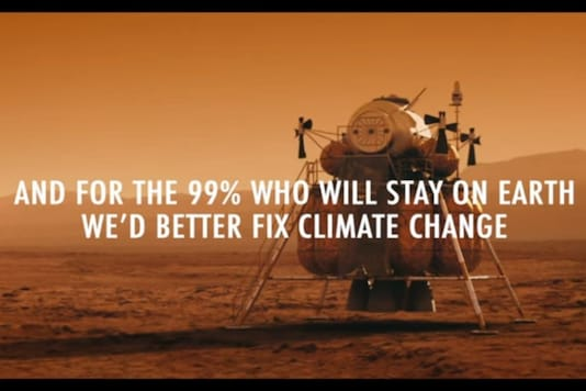 Video released by Fridays for Future mocking NASA's Mars mission. (Credit: YouTube)