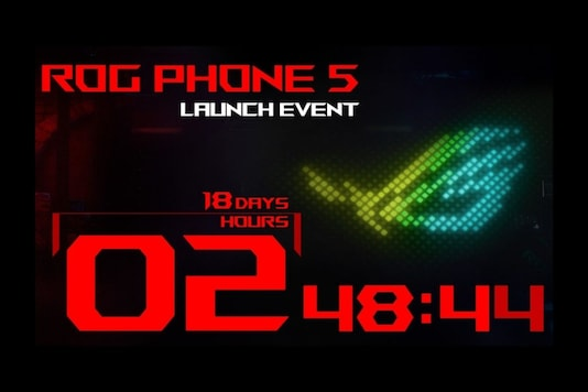 Asus ROG Phone 5 countdown time. (Image Credit: Asus)