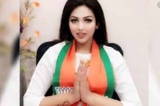 BJYM leader Pamela Goswami, who was arrested in drug case in Kolkata.