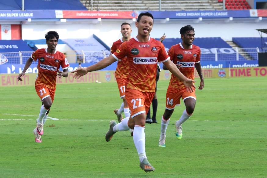 Redeem Tlang doubled FC Goa's lead in the space of 3 minutes (Photo Credit: ISL)