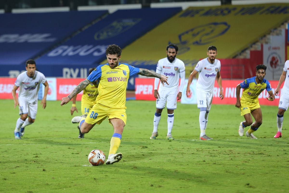 ISL 2020-21 HIGHLIGHTS, Kerala Blasters vs Chennaiyin FC: Chennai's Season Ends With a 1-1 Draw - News18