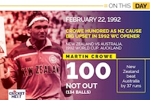On This Day - February 22, 1992: Martin Crowe's Hundred Causes Big Upset in 1992 WC Opener