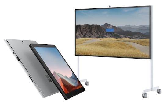 Microsoft Surface Pro 7+, Microsoft Surface Hub 2S 85